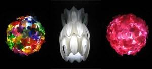 Kierrätysmuovi lamppuja